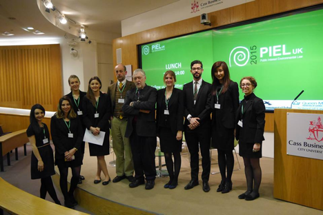 Some members of the 2014-5 PIEL UK Committee with Professor Nicolas de Sadeleer and Professor William Howarth